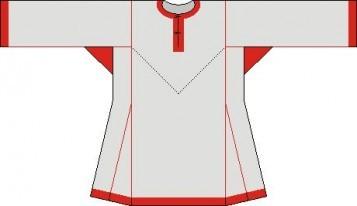 Русская рубаха перед