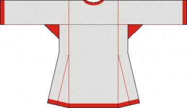 Русская рубаха зад